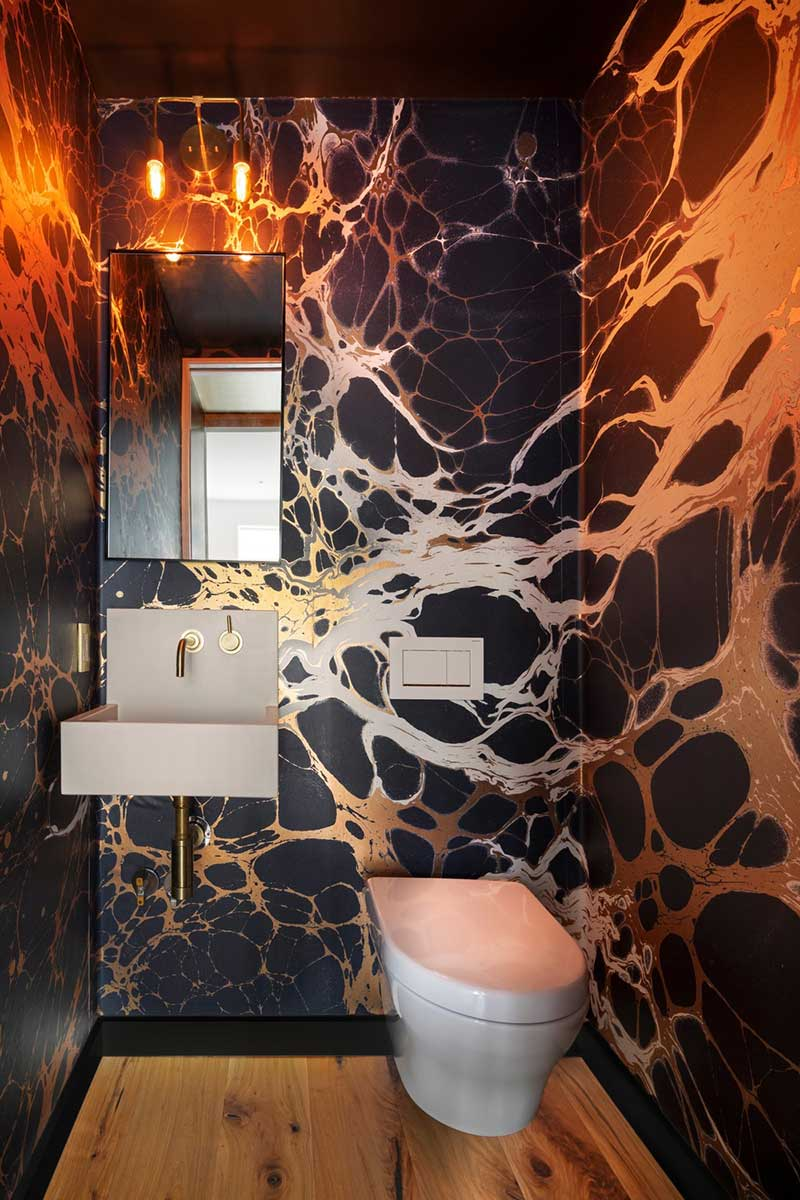 colorful interior design toilet bfdo - Crown Heights Brownstone