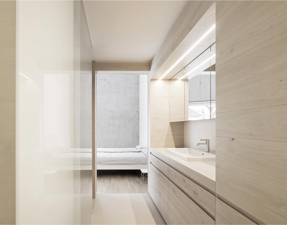 Concrete house bathroom design