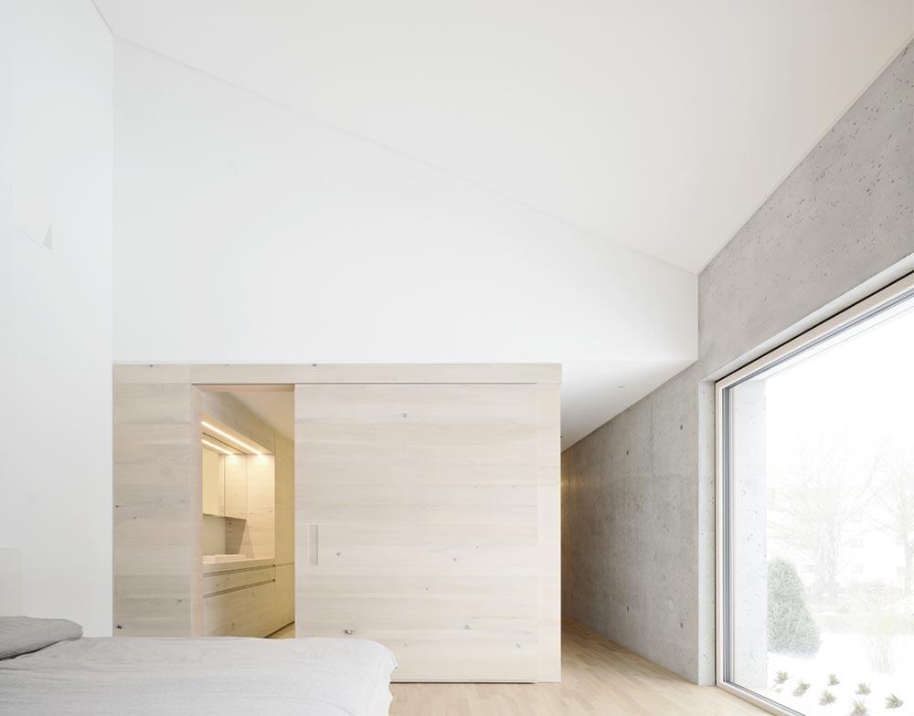 Concrete house bedroom
