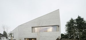 Crystal Shaped Concrete House Design