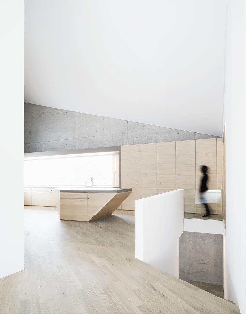 Concrete house kitchen design