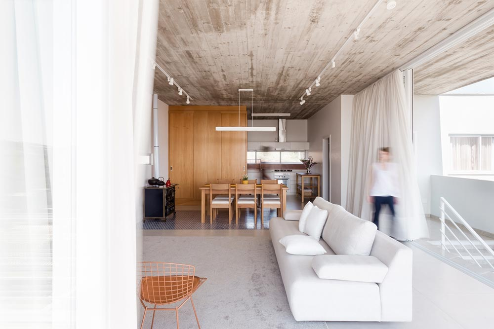 concrete living oom interiors - View House