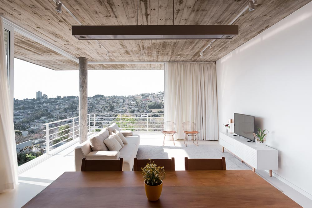 concrete living oom view - View House