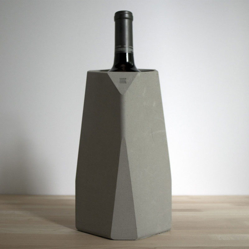 corvi concrete wine cooler wine bar