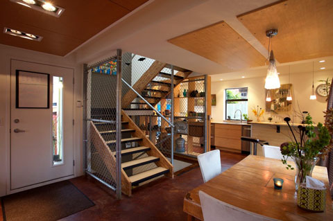 Modern comfort in Keith Dewey's three-story container home in Vancouver Island, Canada