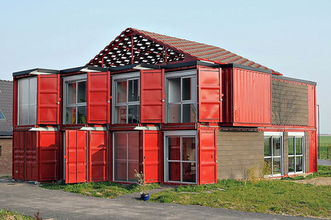 240 sq. meter container house in Lille, France