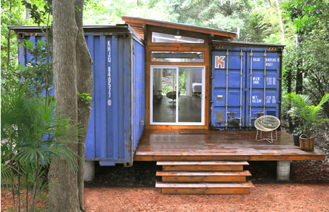 Shipping container home design in savannah