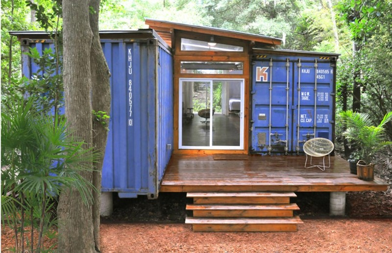 The savannah project two containers a house shipping - How to make a home from shipping containers in new ...