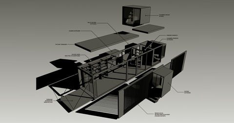 container house plans drop - Prefab Drop House