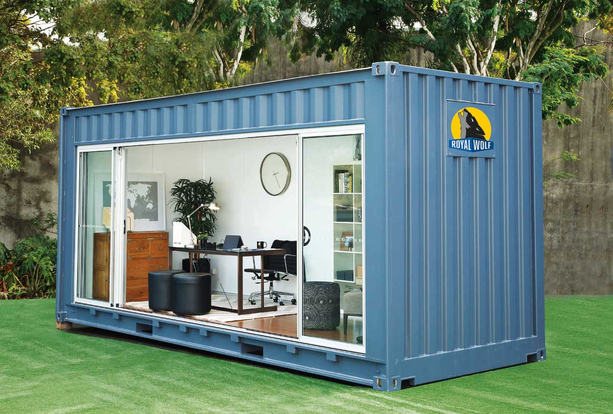 royal wolf outdoor room shipping container homes. Black Bedroom Furniture Sets. Home Design Ideas