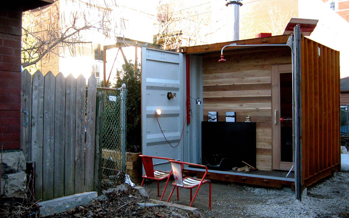 Sauna box shipping container for sweaty sessions - How to make your own swimming pool heater ...