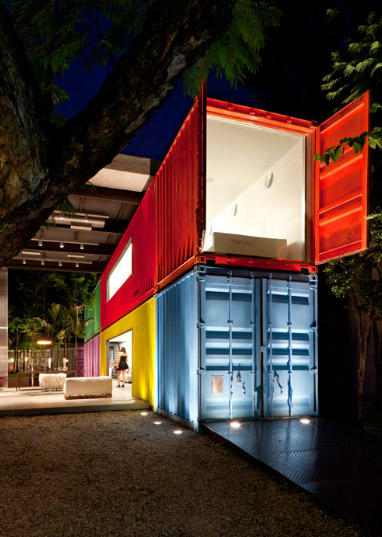 Decameron Store Stacked Shipping Containers For Retail