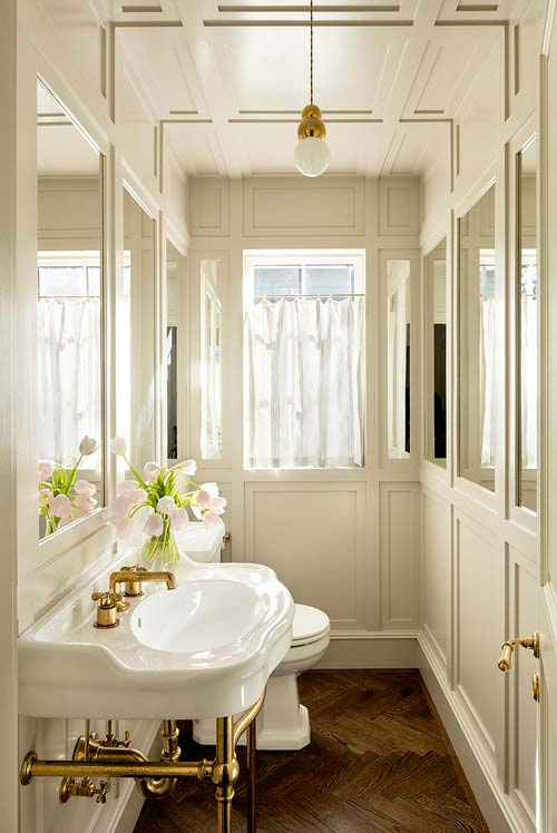 Country style guest toilet design
