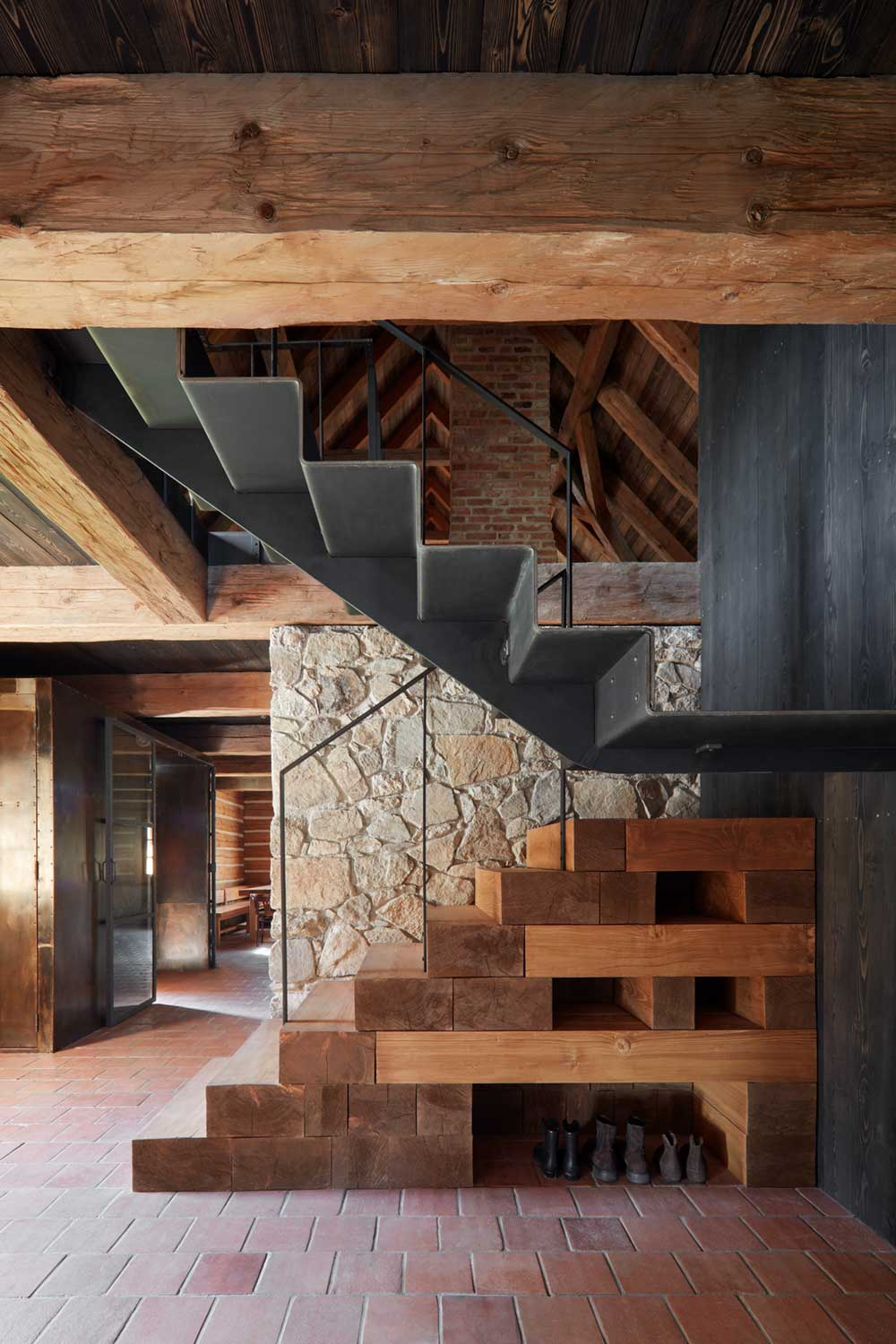 country house renovation stairs - Country House in South Bohemia