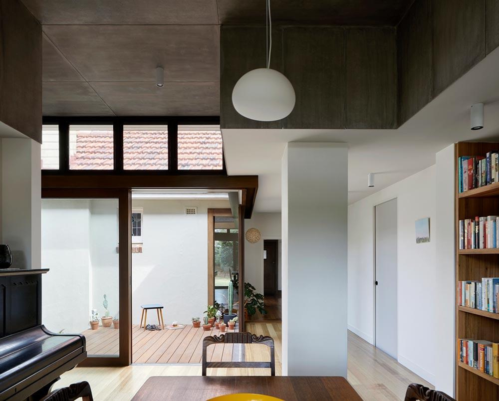 courtyard deck house design zga2 - Courtyard Deck House