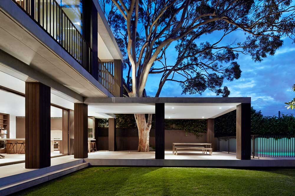 covered outdoor space design bea2 - Hopetoun Avenue Residence