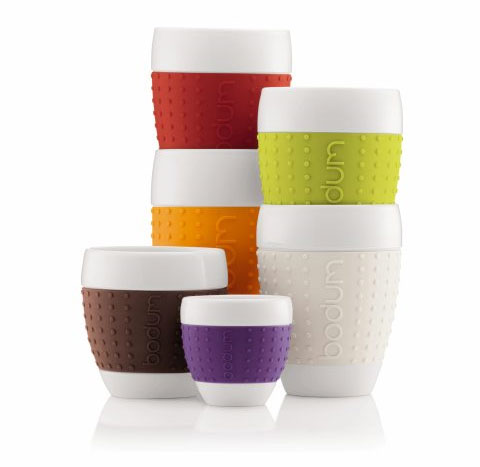 Bodum Pavina Porcelain Cups With Silicone Grip Pictures Gallery