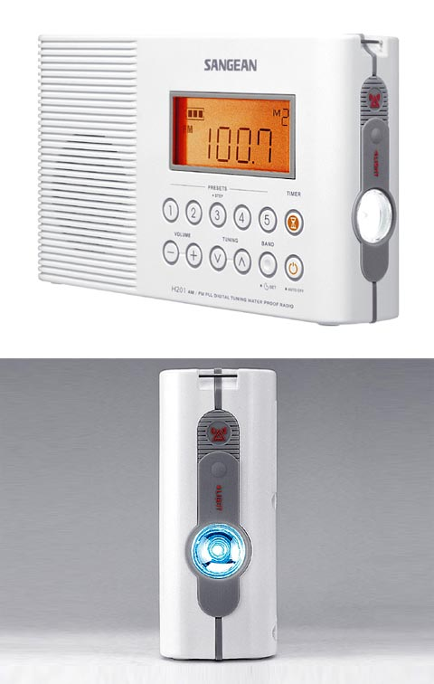 digital shower radio sngn3 - Sangean H201 Digital Shower Radio: Tune In