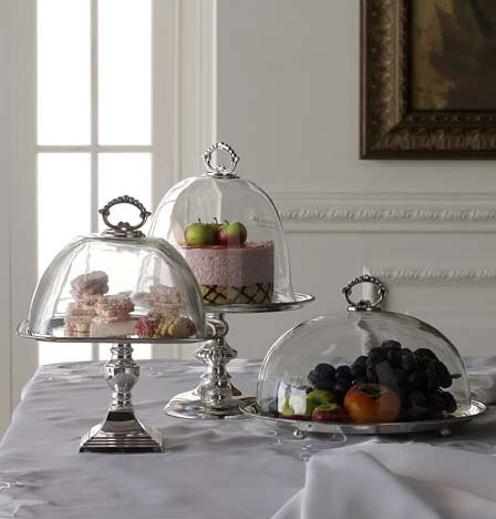 dome serving stands - Domed Serving Pieces: On Display