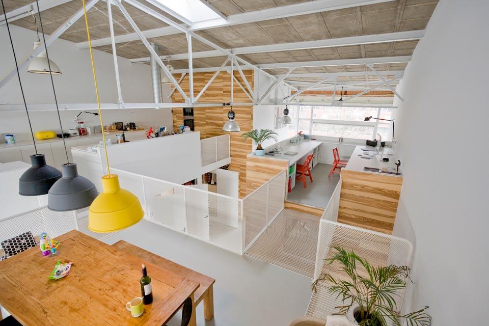 duplex loft open space walkways - House like Village