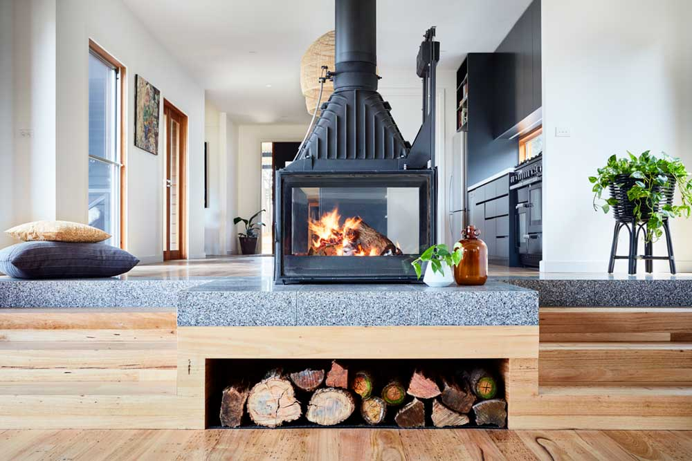 eclectic cottage design fireplace - Shoreham Cottage