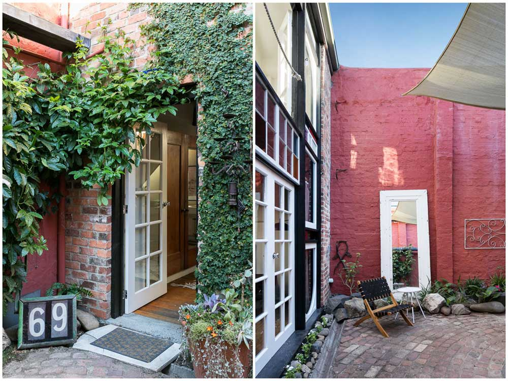 eclectic home courtyard design - Fitzroy Street Residence