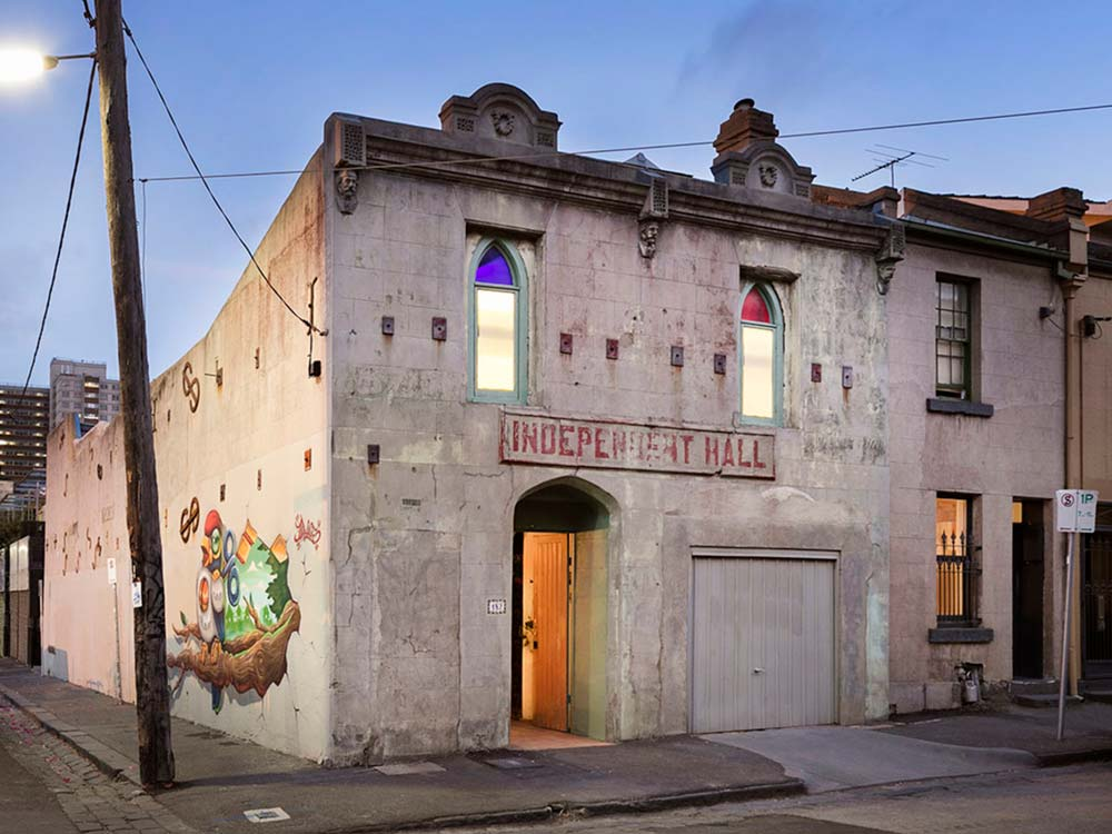 eclectic home design exterior - Fitzroy Street Residence