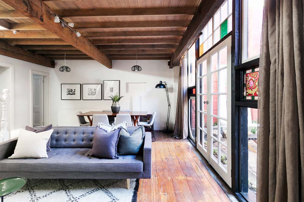eclectic home design living - Fitzroy Street Residence