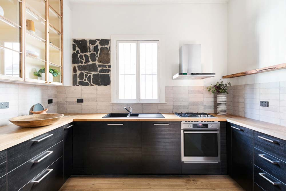 eclectic kitchen design - Fitzroy Street Residence