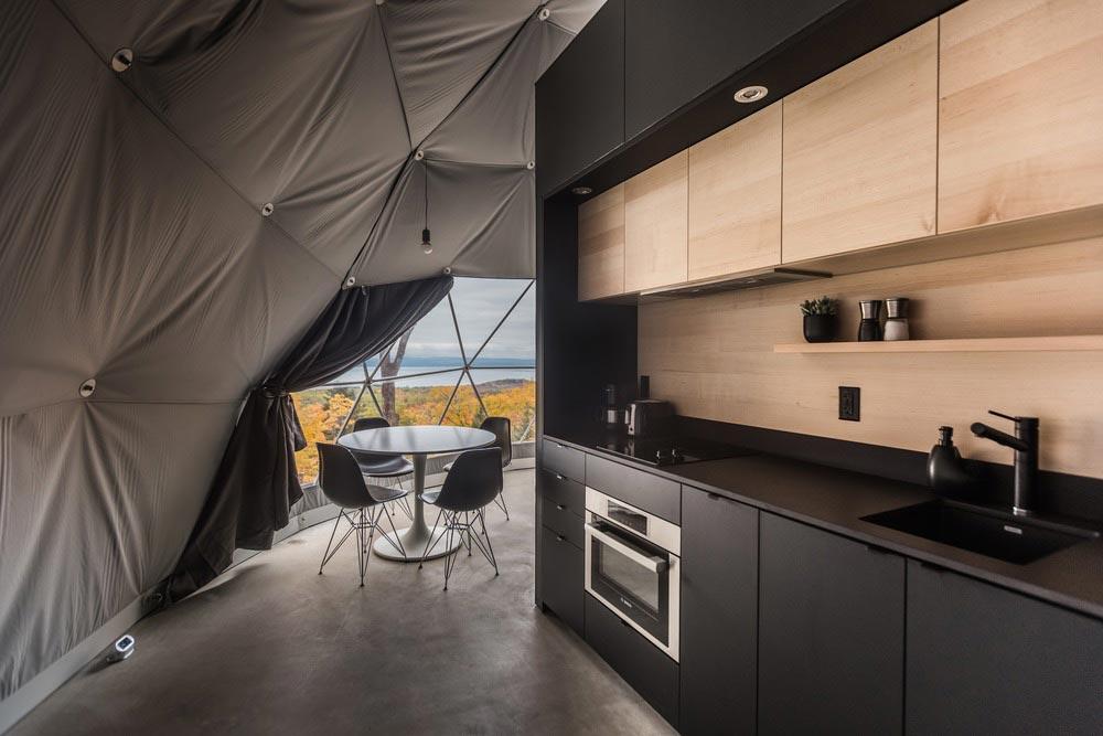 eco boutique dome kitchen design - Eco Luxury Domes Charlevoix