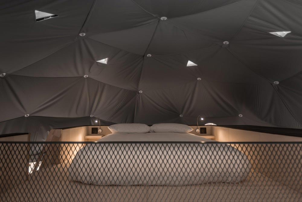 eco boutique dome loft bedroom - Eco Luxury Domes Charlevoix