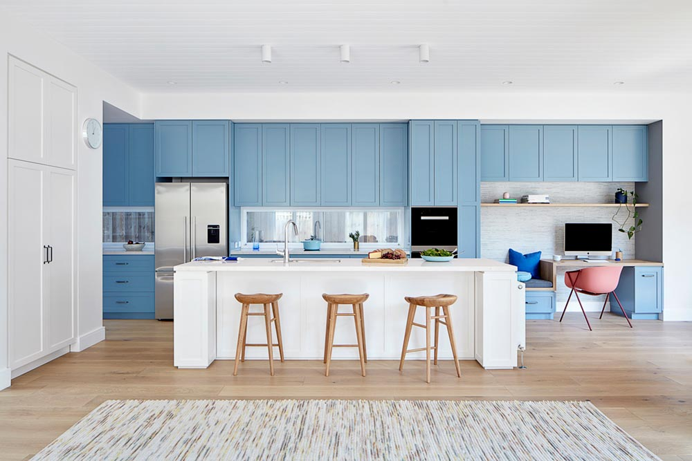 elegant cottage blue kitchen design ba - Elgin Residence