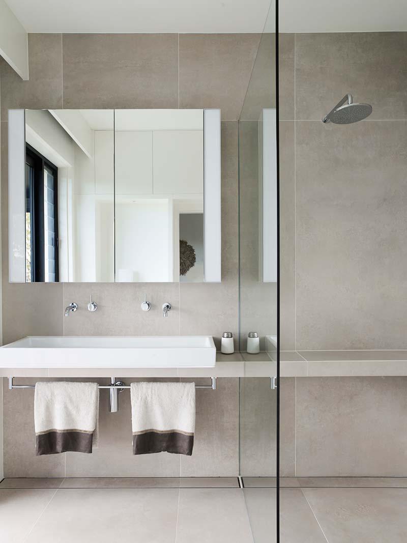 elegant soft interior design bathroom ba - Parsley Bay Residence