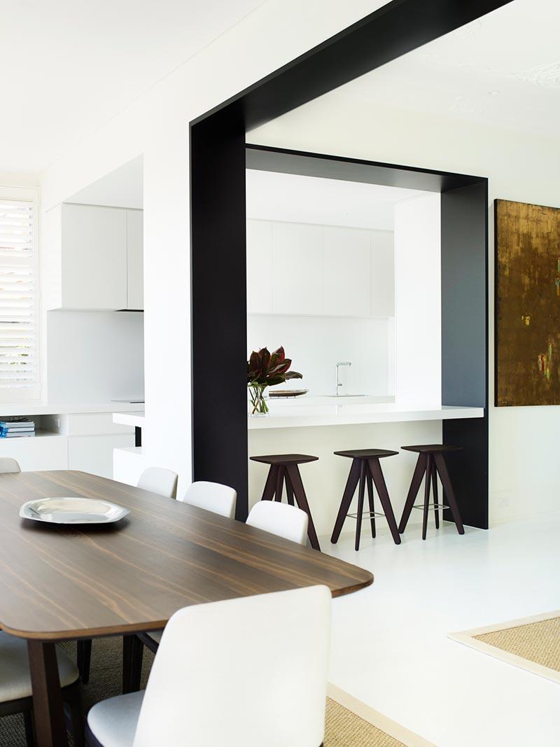 elegant soft interior design dining ba - Parsley Bay Residence