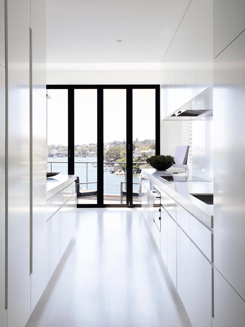 elegant soft interior design kitchen ba - Parsley Bay Residence