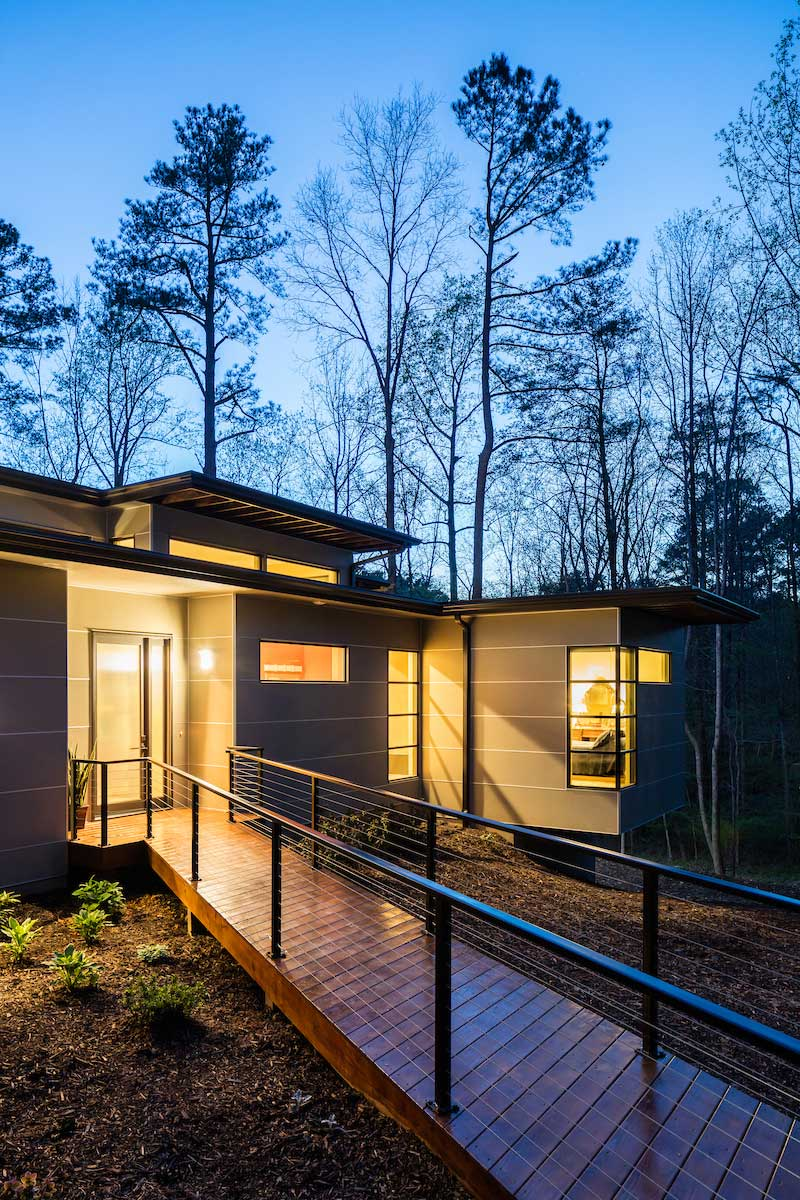 Empty Nest House Designed For A Retired Professor In
