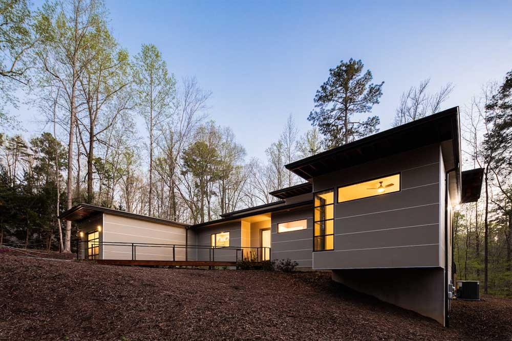 empty nest house facade design acs - The Professor's House