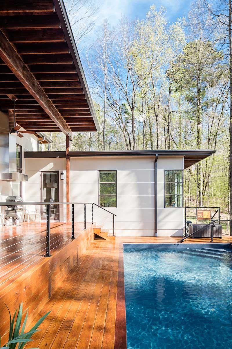 empty nest house pool design acs - The Professor's House