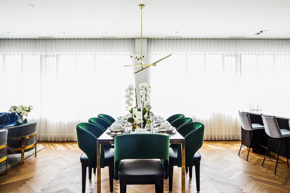 family home luxury interiors dining - Home in Little Italy