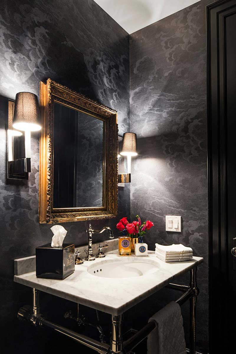 family home luxury interiors powder room - Home in Little Italy