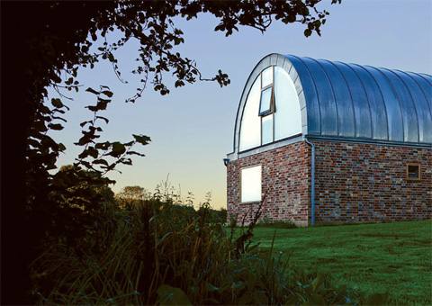 Hawthbush extension a barrel vaulted house in the country for Barrel vault roof