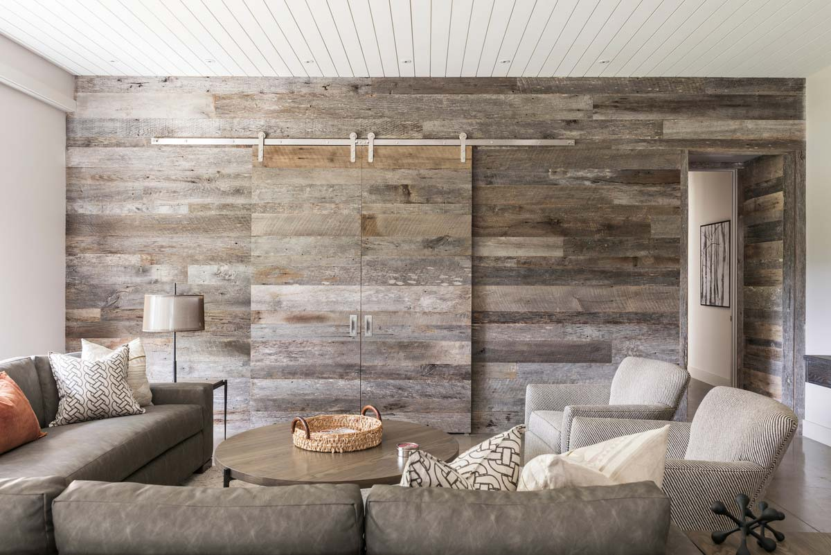 farmhouse hidden tv wall design - Mill Spring Modern Farmhouse