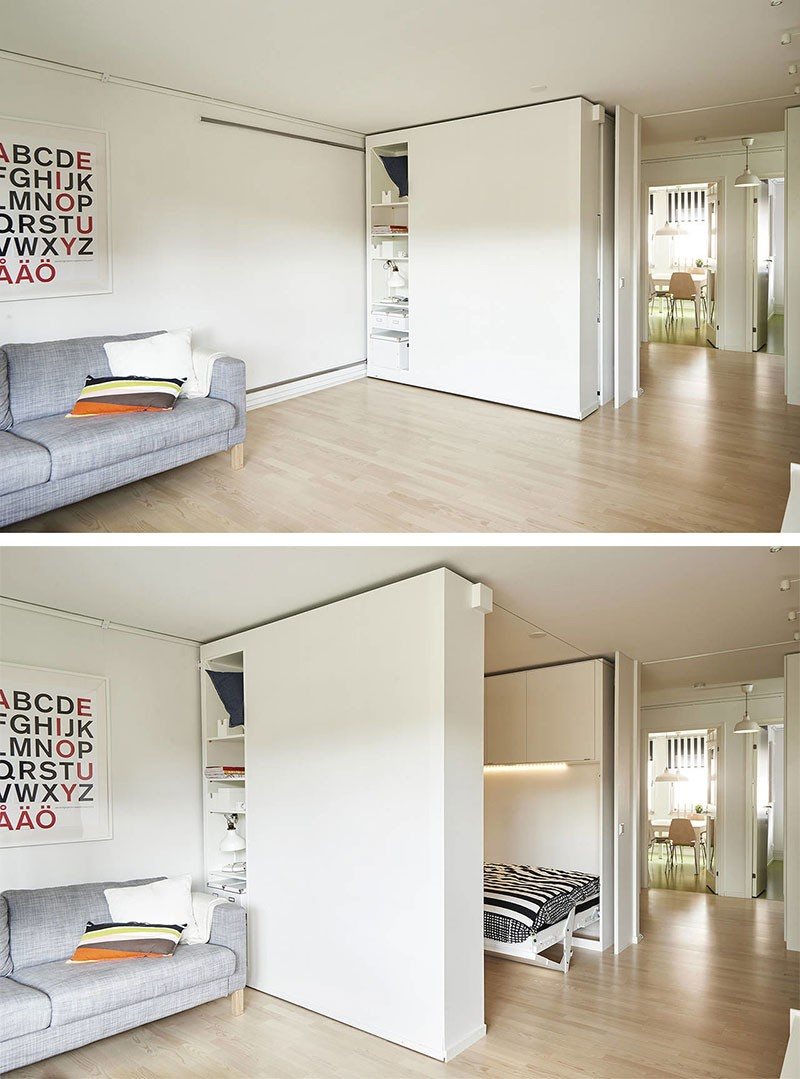 Turn small spaces into cozy homes with ikea 39 s sliding walls - Ikea small spaces floor plans collection ...