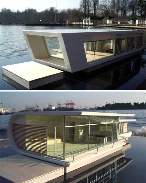 floating homes 3 - Floating Homes: Prefab On The Water