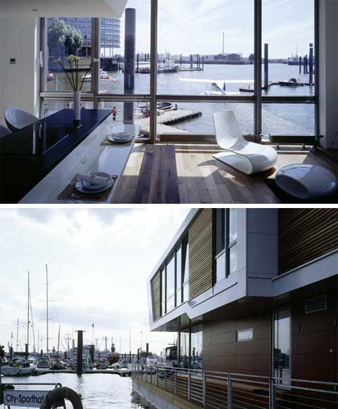 floating homes prefab on the water coastal homes. Black Bedroom Furniture Sets. Home Design Ideas