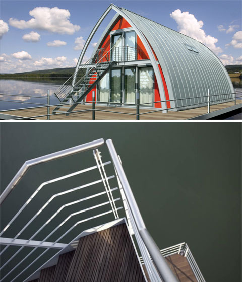 floating house 373 - Floating House: living above water
