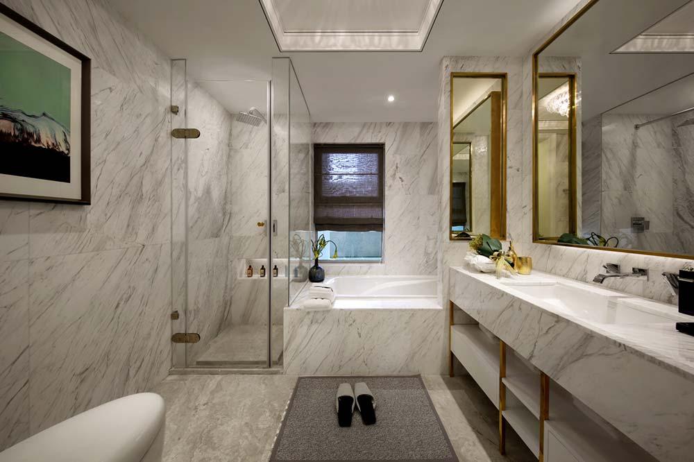 Elegant White Marble Bathroom