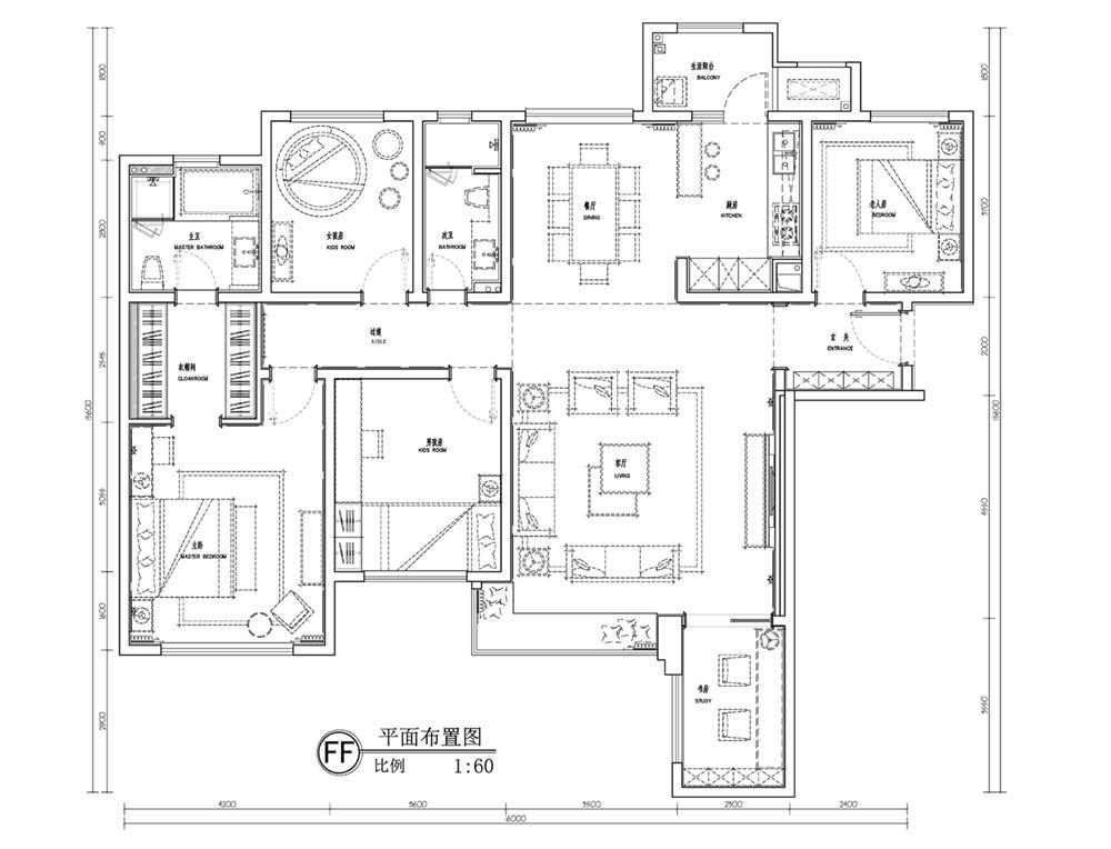 French Interior Design Plan