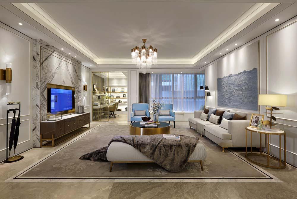 French Inspired Living Room Design