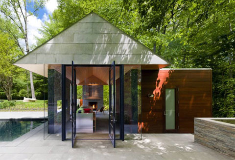 garden pool pavilion rga 5 - Pavilion Style House: Chimney + Roof Alliance